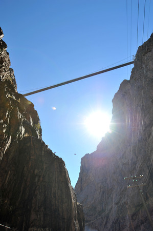 One of the highest suspension bridges in the world stretches across the Royal Gorge in Colorado