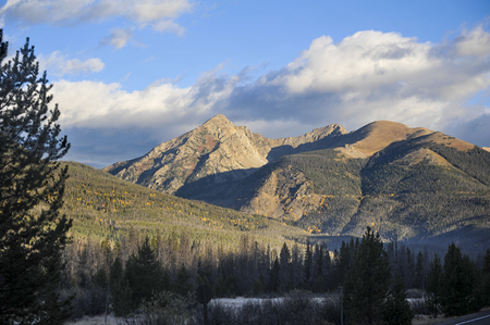 Sunrise on the Rocky Mountains in the Fall