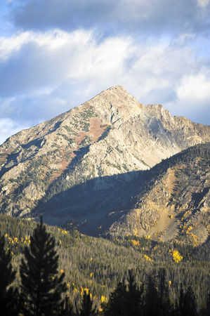 Colorado Rocky Mountains at dawn in the Fall