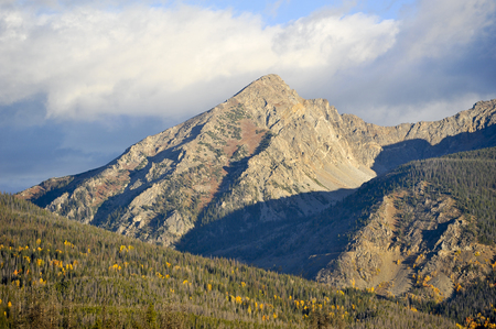 View of the Rocky Mountains at dawn during the Fall