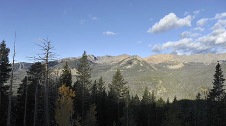 Rocky Mountains as seen from other mountain