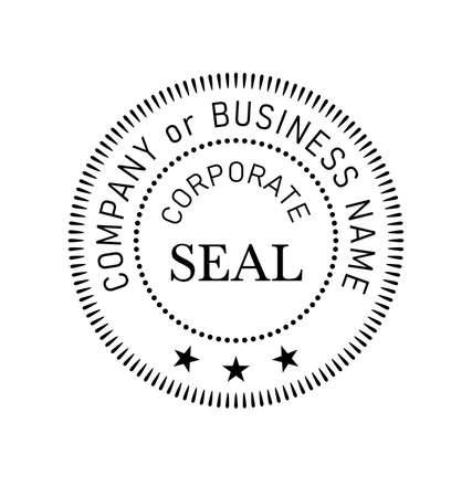 Generic official Corporate seal element vector Vektorové ilustrace