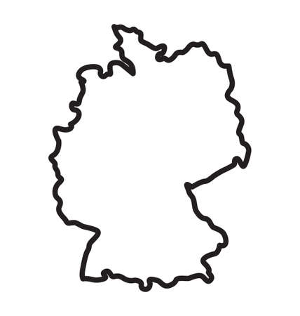 simplified germany deutschland map outline vector Vecteurs
