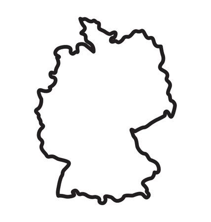 simplified germany deutschland map outline vector Vektoros illusztráció