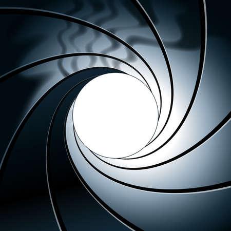 stylized gun barrel rifling background element template vector Ilustración de vector