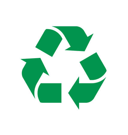 triangle green recycle logo classic vector Logó