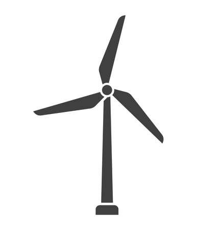 simple wind turbine power generators icon symbol vector