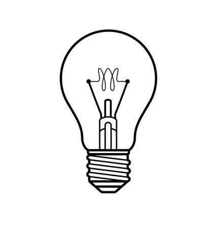 simple light bulb globe line art vector