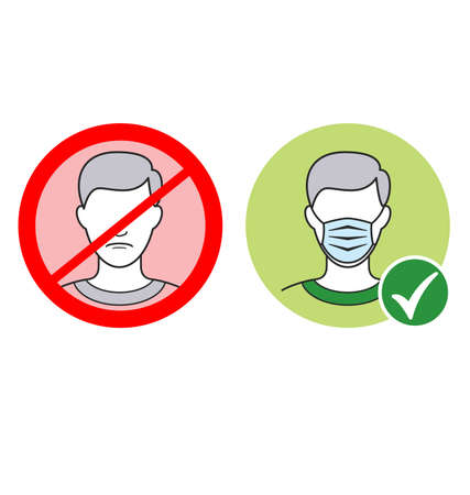 facemask required signs no faces masks to be worn