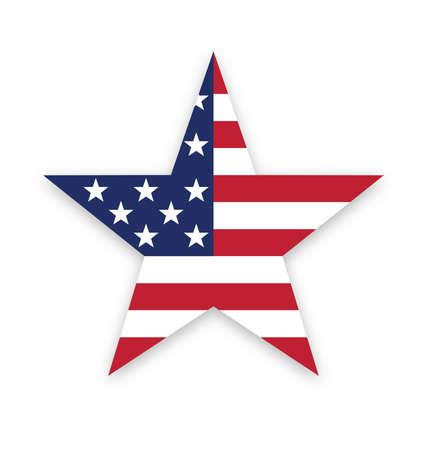 USA American flag star shape vector symbol vector
