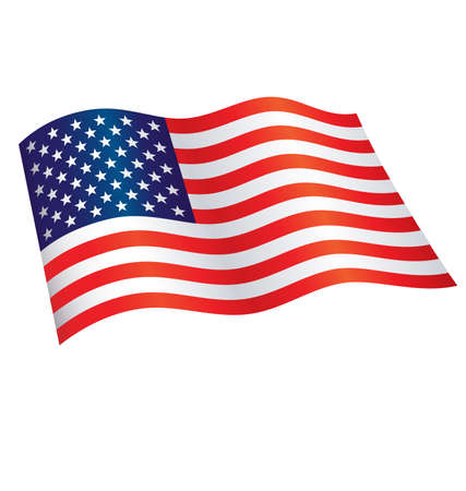 American Star Spangled Banner Flag of united states of america flying waving flowing usa vector