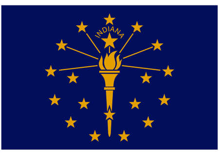Accurate correct indiana in state flag flat colors vector