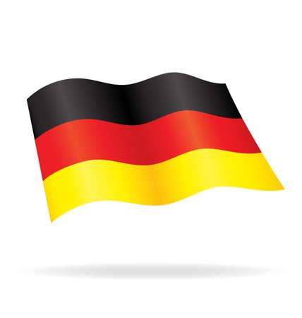 Flying German flag of Germany silk vector