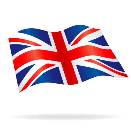 Flowing Union Jack United Kingdom Flag Vector Image