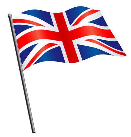 UK England flag waving on flagpole vector