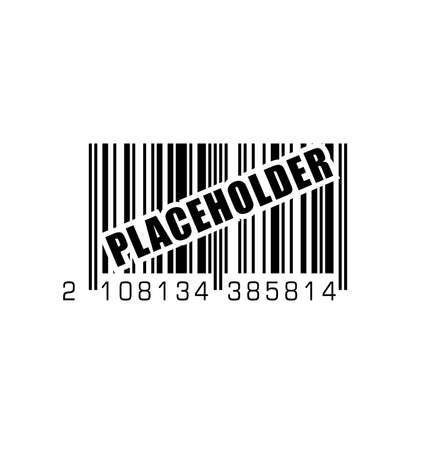 barcode bar code with temporary label fake stand in temporary placeholder vector