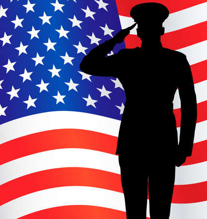 Military police army marine navy air force soldier salute silhouette
