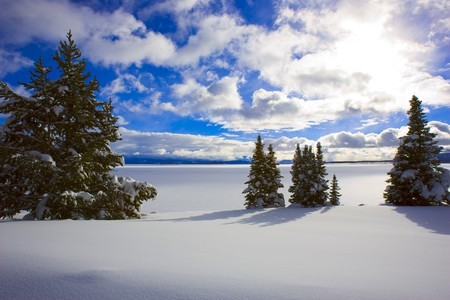 Yellowstone Lake Winter
