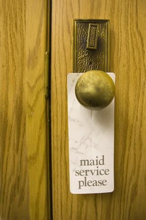 maid service sign