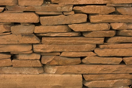 red sandstone slate stacked Stock Photo