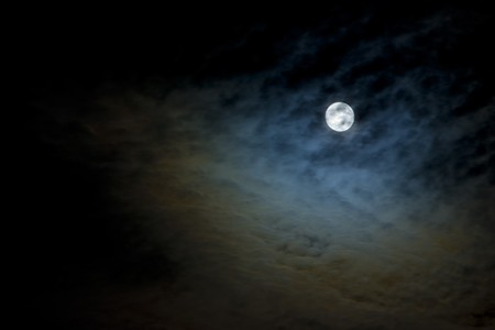 Moon in Storm Clouds