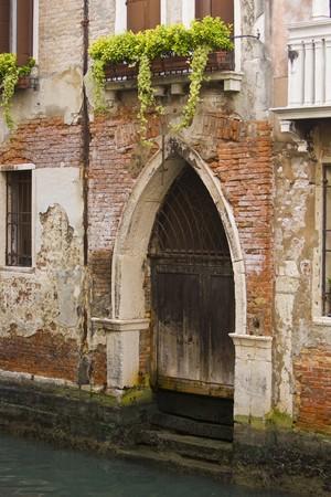 A boat door in Venice, Italy