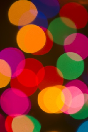 Colorful Christmas Lights Stock Photo