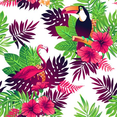 Tropische nahtlose Muster. Standard-Bild - 78501013
