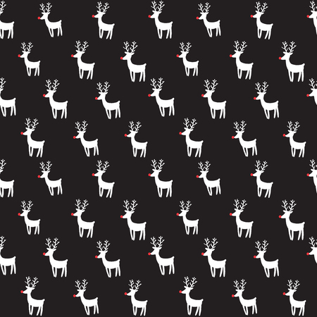 Seamless vector pattern with rein deers.
