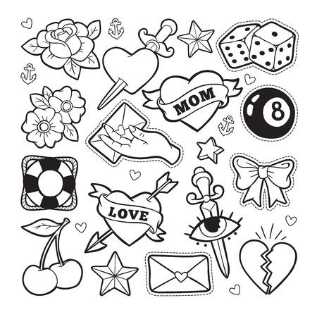 Badges de mode de vieille école. Banque d'images - 81126291