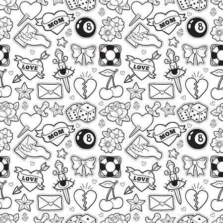 오래 된 학교 원활한 패턴으로 로커 빌리 스타일입니다.