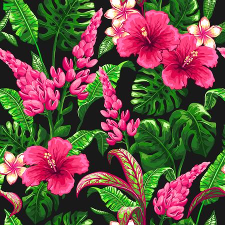 팜 나뭇잎과 열 대 패턴입니다.