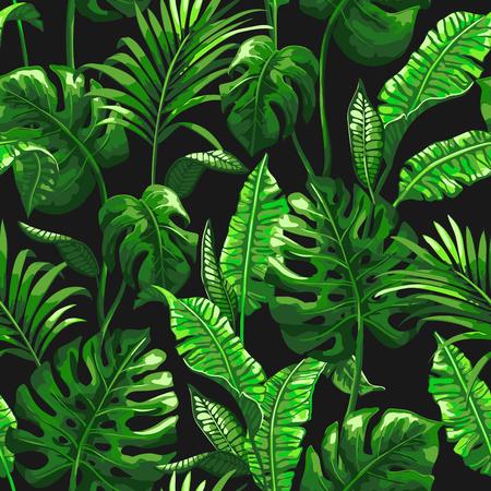 Tropisch patroon met palmbladeren. Stockfoto - 83872879
