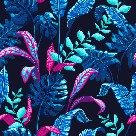 Tropical pattern with palm leaves. Stock fotó - 83872878