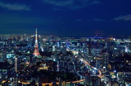 東京夜景 写真素材