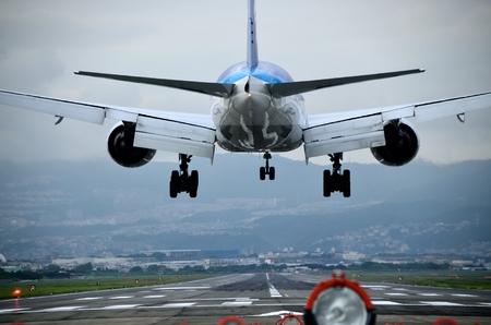 gente aeropuerto: Aterrizaje  Foto de archivo