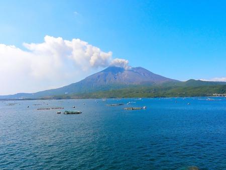 Sakura-jima eruptions: volcanoes 版權商用圖片