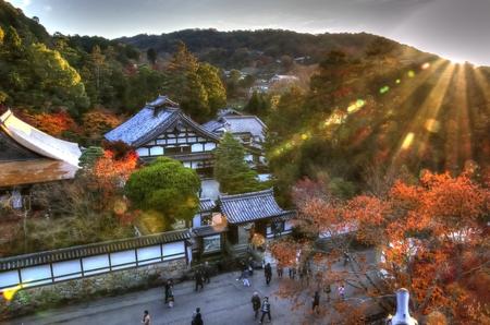 Kyoto autumn landscape