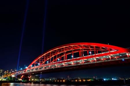 night views: Kobe Ohashi bridge