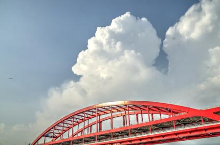 towering: Towering cloud in summer