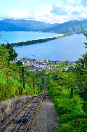 cable car: Standing of Amanohashidate cable car Stock Photo