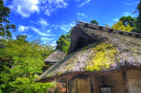 hdr: Straw-thatched roof: HDR Stock Photo