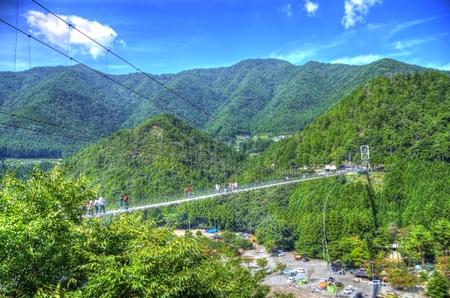 hdr: Tanise suspension bridge: HDR Stock Photo