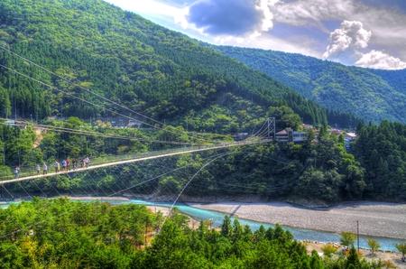 longest: Tanise suspension bridge: HDR Stock Photo