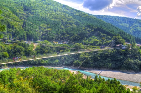 Tanise suspension bridge: HDR 스톡 콘텐츠