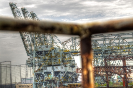 hdr: Cranes: HDR Stock Photo
