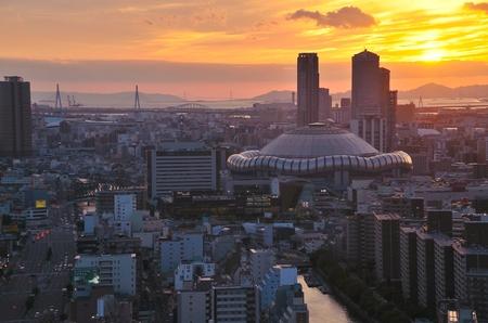 Osaka City dusk