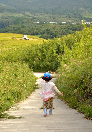 cute young farm girl: Hill girl