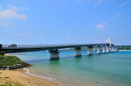 Sesoko bridge in okinawa, Japan Stock Photo