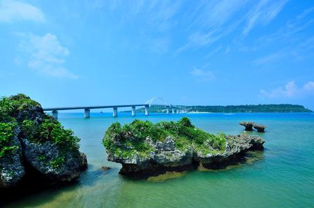 Sesoko bridge Stock Photo